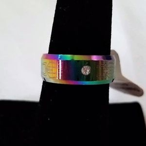 Jewelry - Unisex Spider Rainbow Size 7 Band Ring